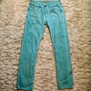GUESS Aqua washed button fly Jeans 31